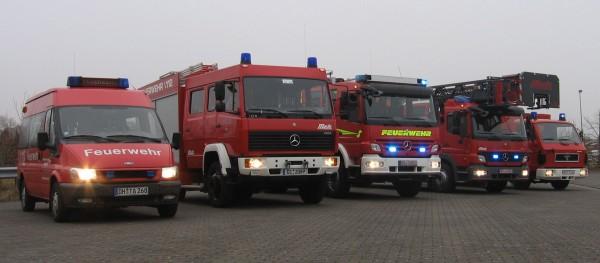 Aktueller Fuhrpark der Feuerwehr Syke. Foto: Brinkmann/Feuerwehr