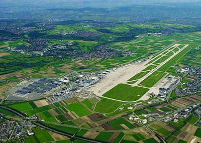 Unfallort: Der Flughafen Stuttgart in Echterdingen. Foto: Flughafen Stuttgart