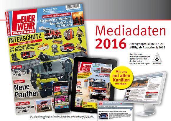 Mediadaten Feuerwehr-Magazin 2016