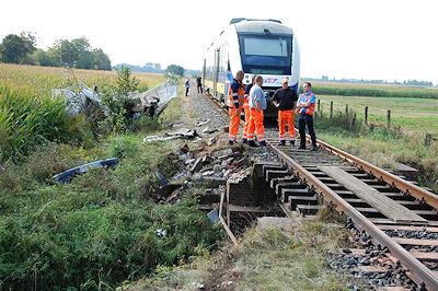 Unfallstelle bei Hüttenbusch. Foto: Polizeiinspektion Verden/Osterholz
