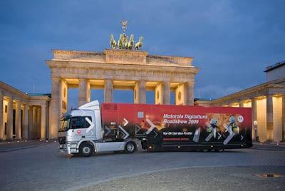 Der Motorola-Truck ist auf Deutschland-Tournee. Foto: Motorola