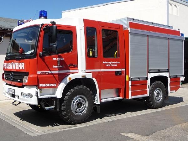 Das neue LF 10/6 der FF Langendernbach von Iveco Magirus auf einem Mercedes Atego 1118. Foto: Birgit Born/Feuerwehr