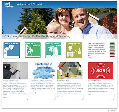 Verbraucherportal VdS-Home. Screenshot: FM