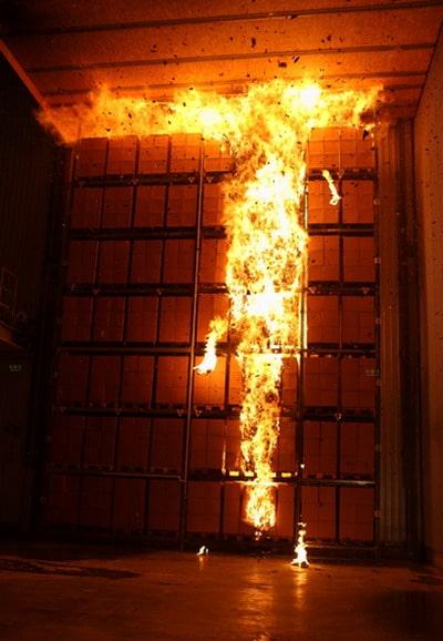 Blick aus dem Zuschauerraum in die neue Brandhalle. Foto: Minimax