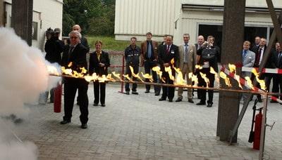 Feierliche Einweihung des erweitereten Minimax-Brandforschungszentrums in Bad Oldesloe. Foto: Minimax