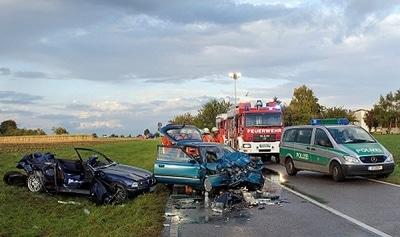Frau stirbt bei Unfall. Foto: Oskar Eyb