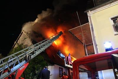 Großbrand in Kröv. Foto: Feuerwehr