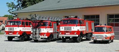 Fahrzeuge der AG Feuerwehrhistorik Riesa. Foto: Bahlmann