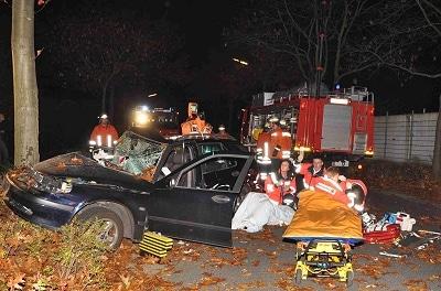 Tödlicher Verkehrsunfall in Lingen. Foto: Lindwehr