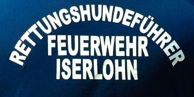 Iserlohner Rettungshundestaffel im Einsatz. Foto: Feuerwehr Iserlohn