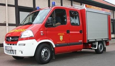 Ihr neues TSF erhielt die FF Ackenhausen auf einem Opel Movano mit einem Aufbau der Firma Magirus. Foto: Kai-Uwe Roßtock/Feuerwehr