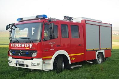 Die FF Niederrieden erhielt von Ziegler dieses LF 10/6 auf Mercedes Atego 1226. Foto: Markus Spinnler/Feuerwehr