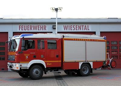 Die FF Wiesental ersetzt miz ihrem neuen LF 20/16 von Ziegler auf MAN ein 29 Jahre altes Löschfahrzeug. Foto: Daniel Majic/Feuerwehr