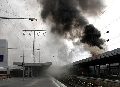 Brand am Essener Hauptbahnhof. Foto: Feuerwehr Essen