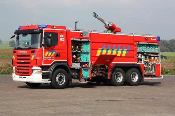 Sonderlöschfahrzeug der Brandweer Antwerpen. Foto: Michael Klöpper