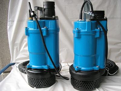 Original (rechts) und Fälschung (links) einer Tsurumi-Schmutzwasserpumpe. Foto: Tsurumi