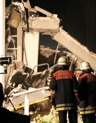 Gebäude in Hamburg eingestürzt. Foto: Florian Büh