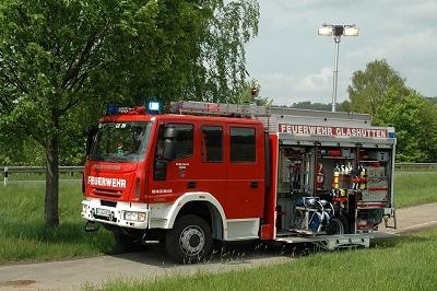 Das HLF der FF Glashütten von Iveco Magirus. Foto: Alexander Müller