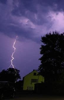 Blitzeinschlag. Foto: Michael Klöpper