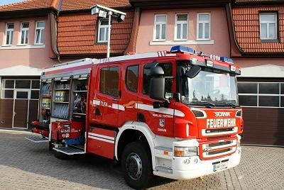 Das neue TLFA 4000 von Magirus auf einem Scania-Fahrgestell der FF Gainfarn. Foto: Christian Hafner/Feuerwehr