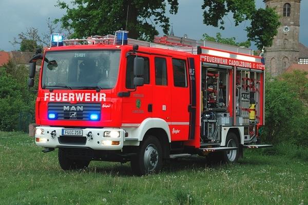 Das neue Hilfeleistungs-Löschgruppenfahrzeug der FF Cadolzburg stammt von Ziegler und ist auf einem MAN TGM 15.280 aufgebaut. Foto: Alexander Müller