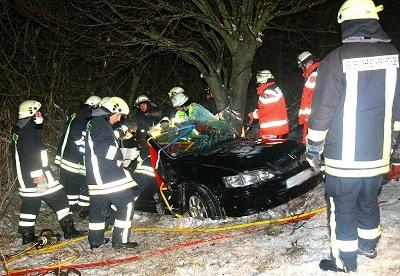 Verkehrsunfall in Eckernförde. Foto: Holger Bauer