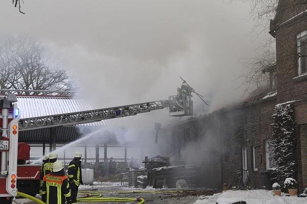 Feuer in Haltern. Foto: G.Bludau
