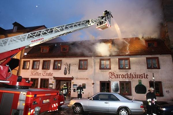 Feuer in Nürnberger Gaststätte. Foto: News5