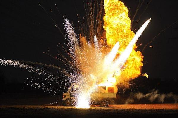 Kabel 1 zeigt spektakuläre Explosionen in einem Silvester-Special. Foto: Kabel 1