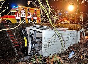 Schwerer Unfall bei Uelsen. Foto: Stephan Konjer