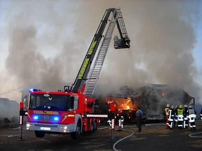 Hubrettungsfahrzeug der FF Rottweil. Foto: Feuerwehr