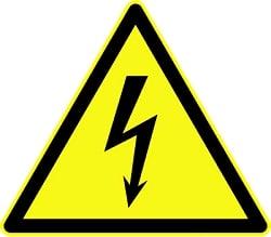 Vorsicht vor Strom.
