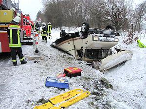 Das verunglückte Wohnmobil. Foto: Holger Bauer