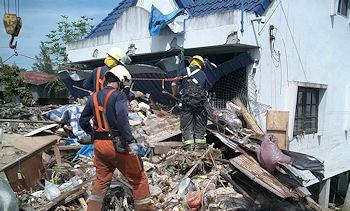 Archivfoto: Beim Tsunami in Südostasien im Jahr 2004 kam @fire auch zum Einsatz. Foto: @fire