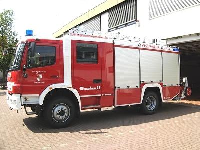 Ein neues LF 20/16 erhielt die Feuerwehr Reichensachsen von Rosenbauer auf einem Mercedes 1529. Foto: Udo Sippel/Feuerwehr