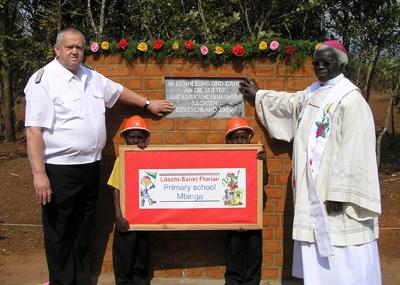 JF Sachsen baut Schule in Tansania. Foto: Jugendfeuerwehr