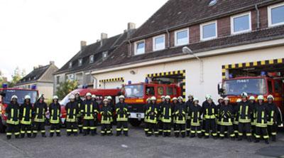 Treffen der Feuerwehrleute zum Ausbildungsdienst. Foto: Timo Jann