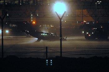 Das verunglückte Flugzeug. Foto: Günter Herkner