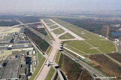 Die neue Landebahn Nordwest mit dem neuen Wachen-Standort. Grafik: Fraport