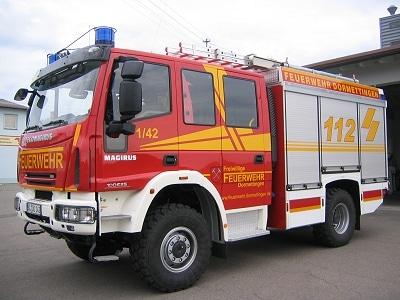 Die Feuerwehr Dormettingen besitzt nun dieses LF 10/6 von Iveco Magirus. Foto: Joachim Herrmann/Feuerwehr