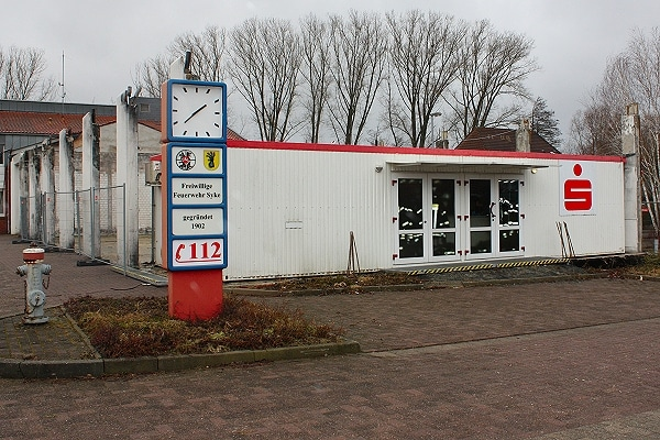 Feuerwache Syke: Noch ein Containerbau. Jetzt wurde ein neuer Standort beschlossen. Foto: Patzelt