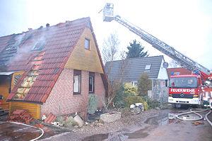Gebäudebrand in Otterstedt. Foto: Polizeiinspektion Verden/Osterholz