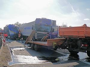 Unfall auf der A1. Foto: Polizei Rotenburg