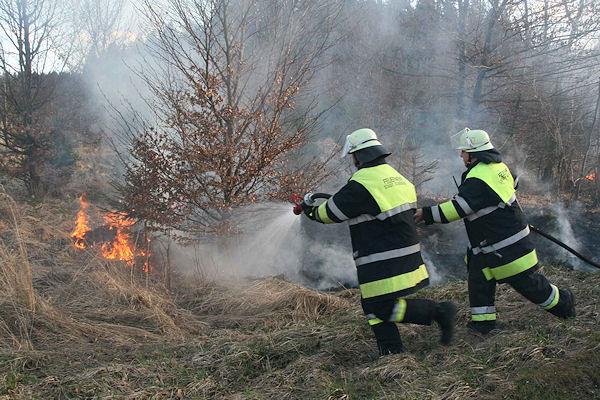 Flächenbrand nahe des bayerischen Mamhofen am Karfreitag. Foto: Jürgen Römmler