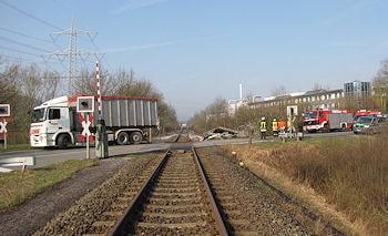 Bahnunfall in Marsberg. Foto: Polizei
