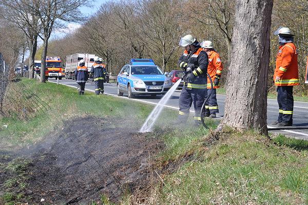 Flächenbrand an der B 73 im Kreis Stade. Archivfoto: Polizei