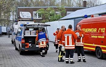 Gefahrguteinsatz in Nordhorn. Foto: Stephan Konjer