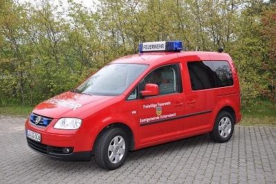 Der VW Caddy ist das Führungsfahrzeug der Brandmeister vom Dienst. Foto: Alfred Schmidt/Feuerwehr