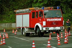 """Fahrsicherheitstraining """"Blaulichtcup"""" in Siegen. Foto: Jörg Büdenbender"""