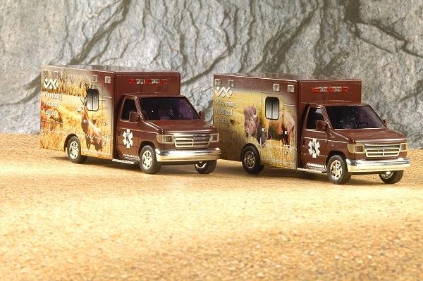 Zwei Ambulances des Wyoming Medical Centers bringt Busch als Neuheit. Foto: Olaf Preuschoff